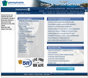 Pennsylvania Driver guide to Penndot